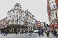 The Gielgud Theatre, a West End theatre located on Shaftesbury Avenue in the City of Westminster Stock Image