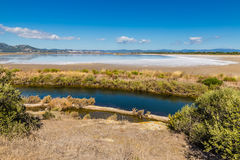 Giens Peninsula And Salt Pan-Hyeres,France Royalty Free Stock Photography
