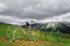 Gient Bikes on the hill Royalty Free Stock Images