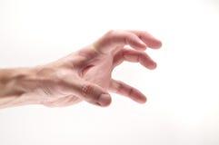 Gierige und verärgerte Hand Stockbild