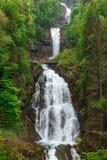 Giessbach cade con le cascate multiple dell'acqua - un turista nascosto Immagini Stock Libere da Diritti