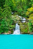 Giessbach Falls on Lake Brienz Brienzer Rothorn mountain Bern Switzerland Stock Photography