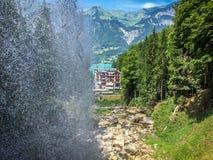 Giessbach Wasserfalle lizenzfreies stockfoto
