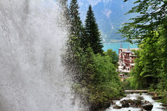 Giessbach waterfall Royalty Free Stock Images