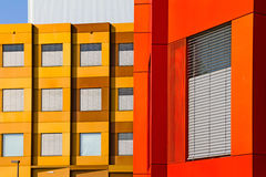 Giessen Research Lab. Giessen, Germany - June 18, 2013: Bio Medical Research Center Giessen, Hesse, Germany. The building facade is made of colored anodized Royalty Free Stock Photography
