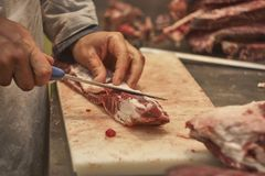 Giet het vlees Stock Afbeelding