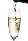 Gietende champagne. Stock Afbeelding