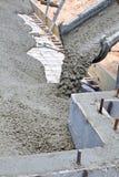 Gietende Concrete Plak Royalty-vrije Stock Foto