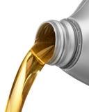 Gietende olie Stock Foto