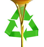 Gietende olie of gouden vloeistof. Stock Foto