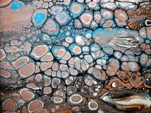 Gietende Oranje blauwe zwarte Stock Fotografie