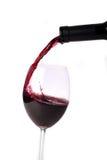 Gietende rood-wijn Royalty-vrije Stock Foto's