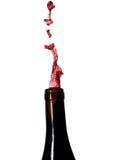 Gietende wijn royalty-vrije stock afbeelding