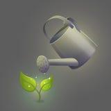 Gieter het hydrateren bloemspruit Royalty-vrije Stock Fotografie