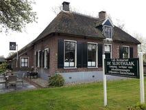 giethoorn的,荷兰一个惊人的村庄房子 图库摄影