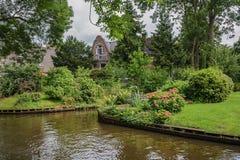 Giethoorn γνωστό ως ολλανδική Βενετία Στοκ εικόνες με δικαίωμα ελεύθερης χρήσης