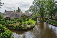 Giethoorn γνωστό ως ολλανδική Βενετία Στοκ Εικόνες
