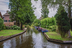 Giethoorn γνωστό ως ολλανδική Βενετία Στοκ φωτογραφίες με δικαίωμα ελεύθερης χρήσης