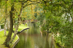 Giethoorn. Bridge over a waterway in Giethoorn, Netherlands Stock Images