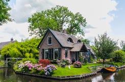Giethoorn, die Niederlande Stockfotografie