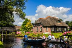 Giethoorn, die Niederlande Stockfotos