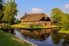 Giethoorn holandês Fotos de Stock