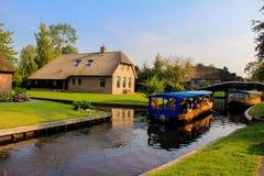 Giethoorn holandês Fotos de Stock Royalty Free