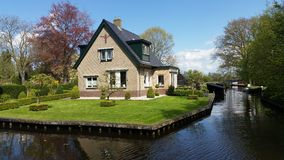 Giethoorn Holland traditional house Royalty Free Stock Images