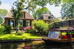 Giethoorn Nederländerna Royaltyfria Bilder