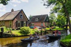 Giethoorn Nederländerna Royaltyfri Bild