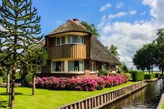 Giethoorn Nederländerna Royaltyfri Foto