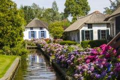 Giethoorn Nederländerna Arkivbilder