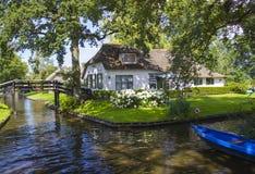 Giethoorn Nederländerna Arkivbild