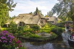 Giethoorn Nederländerna Fotografering för Bildbyråer