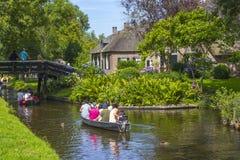 Giethoorn Nederländerna Royaltyfri Fotografi