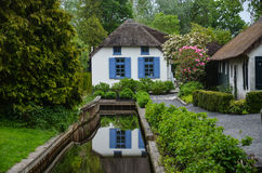 Giethoorn netherlands. House in Giethoorn is in the province of Overijssel in the east of the Netherlands, a green and still area Royalty Free Stock Photos