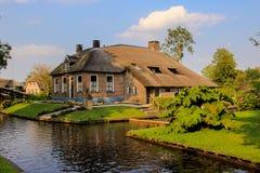 Giethoorn olandese Immagini Stock Libere da Diritti