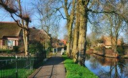 Giethoorn, província de Overijssel, Países Baixos foto de stock