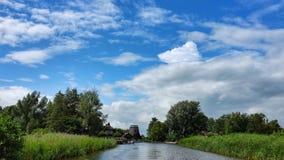 Giethoorn-Stadt in den Niederlanden Stockbild