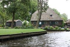 Giethoorn a Veneza holandesa Fotos de Stock Royalty Free