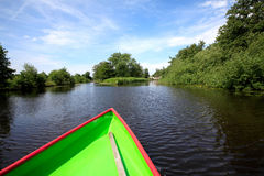 Giethoorn. View over a canal in Giethoorn Stock Images
