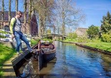 Giethoorn village in the Netherlands Stock Photo