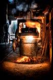 Gietlepel gesmolten staal royalty-vrije stock fotografie