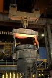 Gietlepel staal Stock Foto's