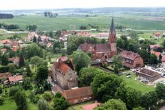Gietrzwald, Poland aerial view Stock Photography