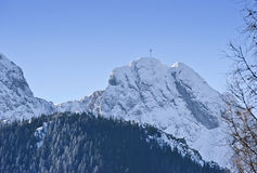 The Giewont mountain - Symbol of Zakopane. Giewont is a mountain massif in the Tatra Mountains of Poland and it represents a sleeping knight named Giewont which Royalty Free Stock Photos