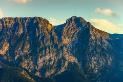 Giewont with a cross Stock Photography
