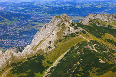 Giewont with a cross Stock Photos