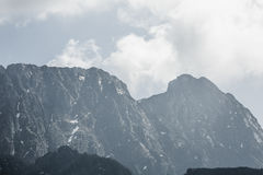 Giewont, famous peak near Zakopane on which the steel cross is m Royalty Free Stock Photography