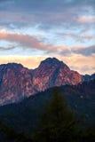 Giewont góra, Inspiruje góra krajobraz w lecie Tatras fotografia royalty free